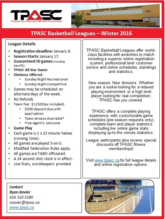 TPASC 2016 Winter Ball League